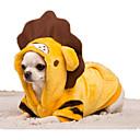 hesapli Köpek Giyim ve Aksesuarları-Köpek Kostümler Köpek Giyimi Karton Sarı / Kırmzı Flanel / Aşağı Kostüm Evcil hayvanlar için Günlük / Sade