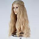 ieftine Machiaj & Îngrijire Unghii-Peruci Sintetice / Peruci de Costum Ondulat Stil Fără calotă Perucă Blond Gălbui Păr Sintetic Pentru femei Blond Perucă Lung Perucă Cosplay