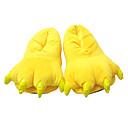 ieftine Pijamale Kigurumi-Adulți Papuci Kigurumi Pika Pika Animal Pijama Întreagă Poliester Bumbac Galben Cosplay Pentru Bărbați și femei Sleepwear Pentru Animale Desen animat Festival / Sărbătoare Costume