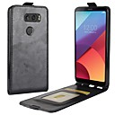 cheap Headsets & Headphones-Case For LG / LG K10 V30 / K10 (2017) Card Holder / Flip Full Body Cases Solid Colored Hard PU Leather for LG V30 / LG Q6 / LG K10 (2017)