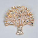 ieftine Broșe-Pentru femei Broșe Copacul Vieții viață copac Dulce Elegant Ștras Broșă Bijuterii Auriu Pentru Zilnic Oficial