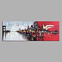 ieftine Conectori-Hang-pictate pictură în ulei Pictat manual - Abstract Modern Fără a cadru interior / Canvas laminat