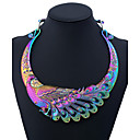 cheap Makeup & Nail Care-Women's Statement Necklace Ethnic & Religious Peacock Ladies Colorful Chunky Metal Alloy Black Silver Rainbow 50 cm Necklace Jewelry One-piece Suit For Party Daily