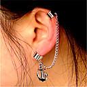 ieftine Brățări-Pentru femei Cercei cu Clip Cătușe pentru urechi Cercei cu spirală Ancoră Declarație femei Vintage Modă cercei Bijuterii Argintiu Pentru Club Măr