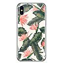 abordables Coques d'iPhone-Coque Pour Apple iPhone X / iPhone 8 Ultrafine / Transparente / Motif Coque Fleur Flexible Caoutchouc pour iPhone X / iPhone 8 Plus / iPhone 8
