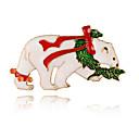 저렴한 귀걸이-여성용 브로치 곰 베이직 단 우아함 브로치 보석류 화이트 제품 크리스마스 새해