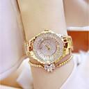 baratos Broches-Mulheres Relógio de Pulso Japanês Quartzo 30 m Relógio Casual Aço Inoxidável Banda Analógico Amuleto Prata / Dourada - Dourado Prata