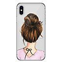 abordables Coques d'iPhone-Coque Pour Apple iPhone X / iPhone 8 / iPhone 6 Plus Ultrafine / Motif Coque Femme Sexy Flexible TPU pour iPhone X / iPhone 8 Plus / iPhone 8