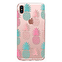 tanie Etui do iPhone-Kılıf Na Apple iPhone X iPhone 8 Przezroczyste Wzór Czarne etui Owoc Miękkie TPU na iPhone X iPhone 8 Plus iPhone 8 iPhone 7 Plus iPhone