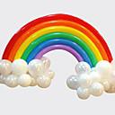 رخيصةأون ديكورات الحفلات-مجموعة قوس قزح بالون عيد ميلاد حفل زفاف ديكو (20 بالون طويل 16 جولة بالون)
