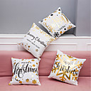 cheap Kids At Home-4 pcs Velvet Natural/Organic Polyester Pillow Case Pillow Cover, Patterned Letter Textured Art Deco/Retro Traditional/Classic