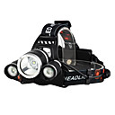 cheap Headlamps-Headlamps Bike Light Headlight LED Cree® XM-L T6 3 Emitters 3000 lm 4 Mode with Batteries and Chargers Waterproof Impact Resistant Rechargeable Camping / Hiking / Caving Everyday Use Police / Military