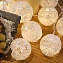 tanie Taśmy świetlne LED-3 M Łańcuchy świetlne 20 Diody LED Dip LED Ciepła biel / Wiele kolorów 1 szt.