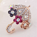 cheap Brooches-Brooches - Imitation Diamond Umbrella Classic Brooch Gold For Daily