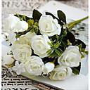 hesapli Yüzükler-Yapay Çiçekler 1 şube Avrupa Tipi Güller Masaüstü Çiçeği