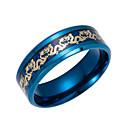 baratos Relógios Masculinos-Homens Anel de banda - Aço Inoxidável Fashion 6 / 7 / 8 Preto / Azul Escuro Para Diário