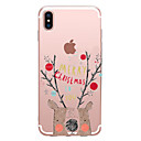 hesapli iPhone Kılıfları-Pouzdro Uyumluluk Apple iPhone X / iPhone 8 Şeffaf / Temalı Arka Kapak Kelime / Cümle / Karton / Noel Yumuşak TPU için iPhone X / iPhone 8 Plus / iPhone 8