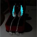 Недорогие Серьги-2pcs Жен. Серьги-слезки - Крылья ангела Дамы Мода Светящийся Бижутерия Светло-синий Назначение Повседневные Бар