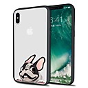 olcso Kutyaruhák és kiegészítők-Case Kompatibilitás Apple iPhone X / iPhone 8 Plus Minta Fekete tok Kutya Puha TPU mert iPhone X / iPhone 8 Plus / iPhone 8