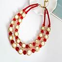 preiswerte Ringe-Damen Kristall Ketten - Tropfen Modisch Kaffee, Rot, Hellblau Modische Halsketten 1 Für Party, Alltag
