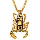 billige Vedhæng-Herre Dame Halskædevedhæng Skorpion Hip-hop Rustfrit Stål Guld Sølv Halskæder Smykker 1 Til Daglig Cosplay Kostumer
