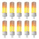 hesapli LED Şerit Işıklar-BRELONG® 10pcs 3W 230lm G4 LED Mısır Işıklar 36 LED Boncuklar SMD 2835 Alev efekti Sıcak Beyaz 12V