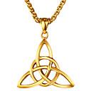 hesapli Bileklikler-Erkek Geometrik Uçlu Kolyeler - Paslanmaz Çelik Etniczne Altın, Gümüş Kolyeler Mücevher 1 Uyumluluk Hediye, Günlük