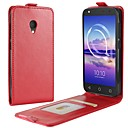 رخيصةأون حافظات / جرابات هواتف جالكسي S-غطاء من أجل Alcatel الكاتيل U5 4G A7 حامل البطاقات قلب غطاء كامل للجسم لون الصلبة قاسي جلد PU إلى alcatel U5 HD Alcatel U5 4G alcatel U5