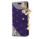 abordables Coques d'iPhone-Coque Pour Apple iPhone X / iPhone 8 Plus Porte Carte / Strass / Avec Support Coque Intégrale Fleur Dur faux cuir pour iPhone X / iPhone 8 Plus / iPhone 8