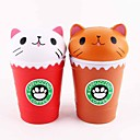 cheap Stress Relievers-LT.Squishies Squeeze Toy / Sensory Toy Stress Reliever Food&Drink Cat Coffee Cup Stress and Anxiety Relief Office Desk Toys Relieves ADD, ADHD, Anxiety, Autism 1 pcs Classic Kid's Adults' Unisex