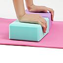 preiswerte Fitness Accessoires-Yoga Block 1 pcs Hohe Dichte, Feuchtigkeitsbeständig, Leicht, Geruchsbeständig EVA Unterstützen und vertiefen Haltungen, Unterstützen die Balance und Flexibilität Zum Pilates / Fitness / Fitnessstudio