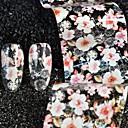 hesapli Makyaj ve Tırnak Bakımı-1 pcs Folyo Etiket Çiçek Çıkartmalar / Nail Art Forms
