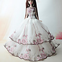 hesapli Balonlar-Sevimli Elbise İçin Barbie Bebek Polyester Elbise İçin Kız Oyuncak bebek