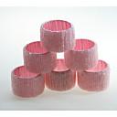 ieftine Șervețele & Inele de Șervețele-Stil European Hârtie Reciclabilă Rotund Inel de șervețele Decoratiuni de tabla 6 pcs