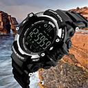 זול שעוני גברים-SKMEI בגדי ריקוד גברים שעוני ספורט שעון דיגיטלי קווארץ שחור 50 m עמיד במים בלותוט' לוח שנה דיגיטלי פאר יום יומי אופנתי - שחור כסף כחול / מד צעדים / שעון עצר