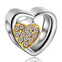 hesapli Boncuklar ve Takı Yapımı-DIY Mücevherat 1 adet Koraliki Simüle Elmas alaşım Sarı Navy Mavi Kalp boncuk 0.2 cm DIY Kolyeler Bilezikler