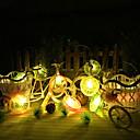tanie Taśmy świetlne LED-100cm Łańsuchy świetlne 10 Diody LED 1M Światło smyczkowe Ciepła biel Mozliwość połączenia 1kpl