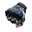 hesapli Sırt Çantaları ve Çantalar-Yarım parmak Unisex Motosiklet Eldiveni Kumaş Demin Giyilebilir / Hava Alan / Kaymayan
