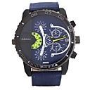 baratos Relógios Masculinos-JUBAOLI Homens Relógio Casual Chinês Legal / Mostrador Grande Aço Inoxidável Banda Preta / Branco / Vermelho