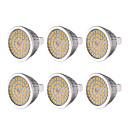 ieftine Becuri LED-ywxlight® 6pcs mr16 7w 48 de lumină bec alb cald alb rece natural alb 2835smd led lumina becului de lumină pentru iluminat acasă dc 12 v