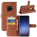 halpa Samsung suojakalvot-Etui Käyttötarkoitus Samsung Galaxy S9 Plus / S9 Lomapkko / Korttikotelo / Flip Suojakuori Yhtenäinen Kova PU-nahka varten S9 / S9 Plus / S8 Plus