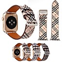 abordables Bracelets Apple Watch-Bracelet de Montre  pour Apple Watch Series 4/3/2/1 Apple Bracelet en Cuir Vrai Cuir Sangle de Poignet
