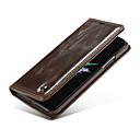 رخيصةأون حالة سامسونج اللوحي-غطاء من أجل Apple iPhone X محفظة / حامل البطاقات / قلب غطاء كامل للجسم لون سادة قاسي جلد أصلي