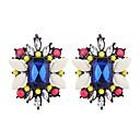 tanie Kolczyki-Damskie Syntetyczny Tanzanit / Kryształ Kolczyki na sztyft - Żywica, Imitacja diamentu Modny, Kolorowy Gray / Yellow / Niebieski Na Codzienny / Wyjściowe
