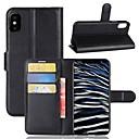 Недорогие Защитные пленки для iPhone SE/5s/5c/5-Кейс для Назначение Apple iPhone X / iPhone 8 Pluss / iPhone 8 Кошелек / Бумажник для карт / Флип Чехол Однотонный Твердый Кожа PU