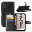 cheap iPhone Cases-Case For Huawei P20 lite P20 Card Holder Wallet Flip Magnetic Full Body Cases Solid Colored Hard PU Leather for Huawei P20 lite Huawei