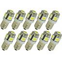 billiga LED-lampor med G-sockel-SENCART 10pcs 1.5 W LED-lampor med G-sockel 90 lm G4 E11 T 5 LED-pärlor SMD 5050 Dekorativ Varmvit Vit Röd 12 V