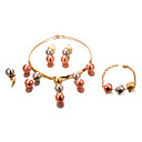 levne Dámské-Dámské Šperky Set - Pozlacené Prohlášení, Módní Zahrnout Zlatá Pro Svatební Párty / Küpeler