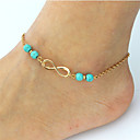 cheap Body Jewelry-Turquoise Anklet - Infinity Bohemian, Fashion, Boho Gold / Silver For Date Bikini Women's