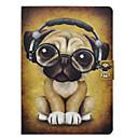 preiswerte LED-Leuchtröhren-Hülle Für Apple iPad 10.5 iPad Pro 9.7 Kreditkartenfächer mit Halterung Flipbare Hülle Muster Ganzkörper-Gehäuse Hund Hart PU-Leder für